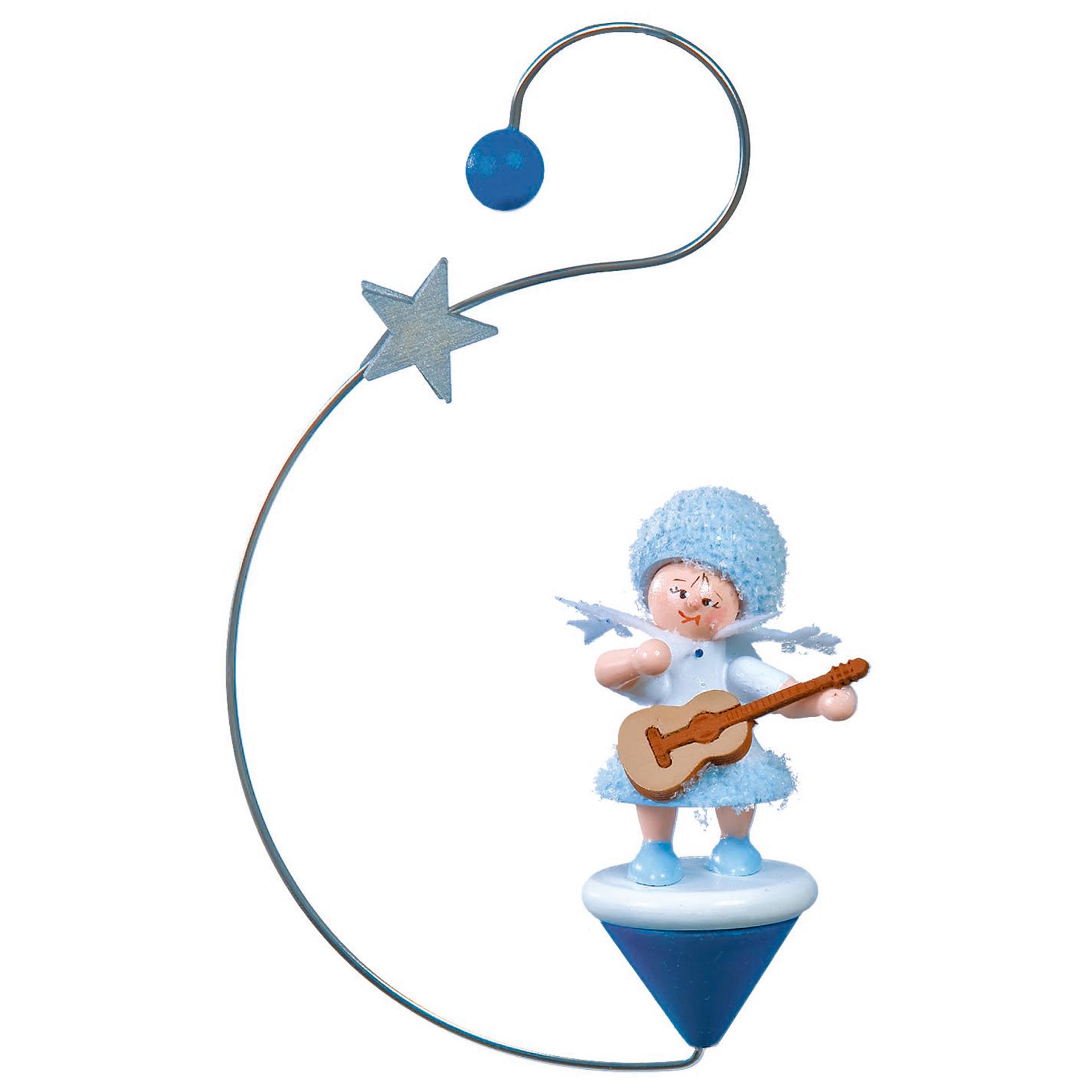 Baumschmuck Schneeflöckchen mit Gitarre