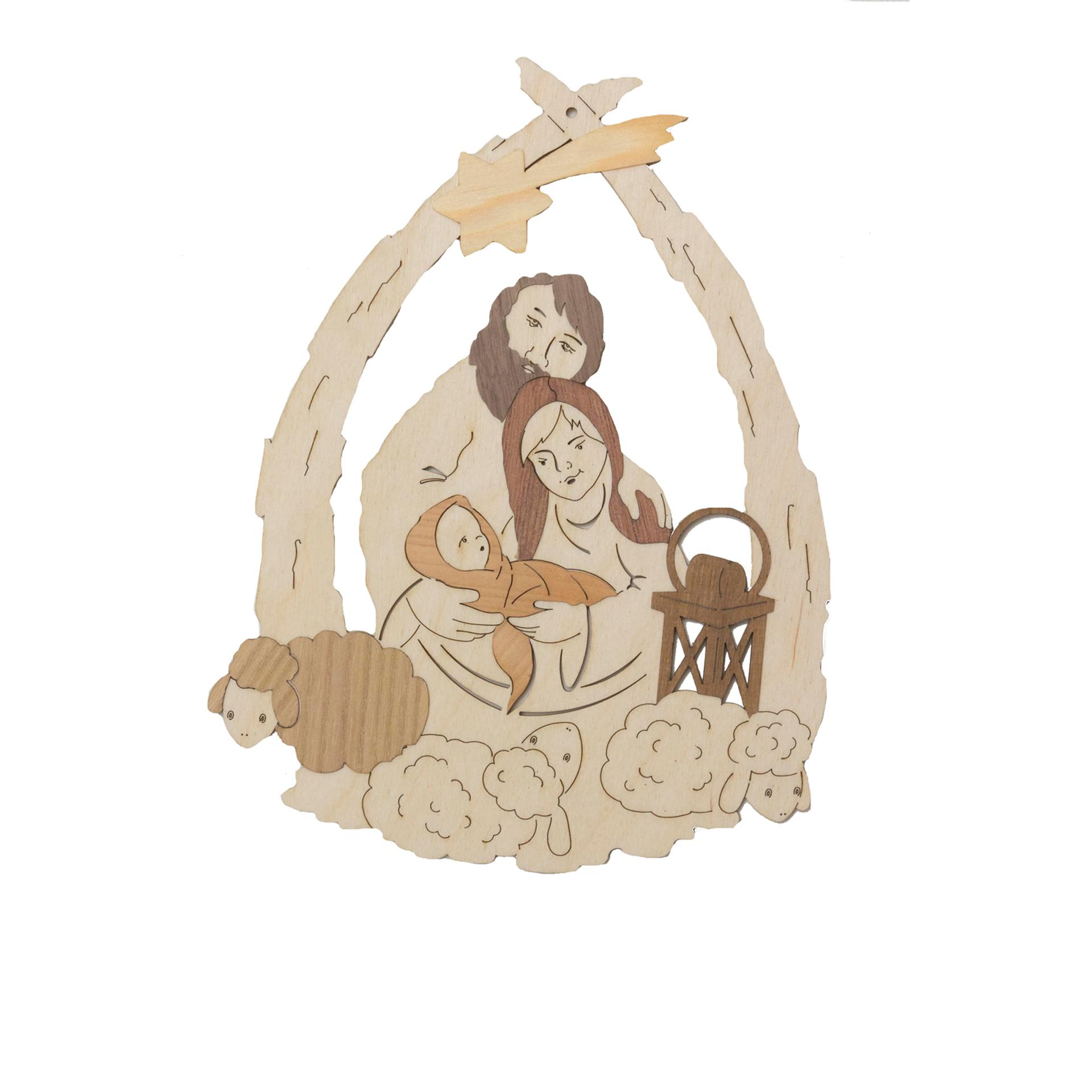 Fensterbild Heilige Familie