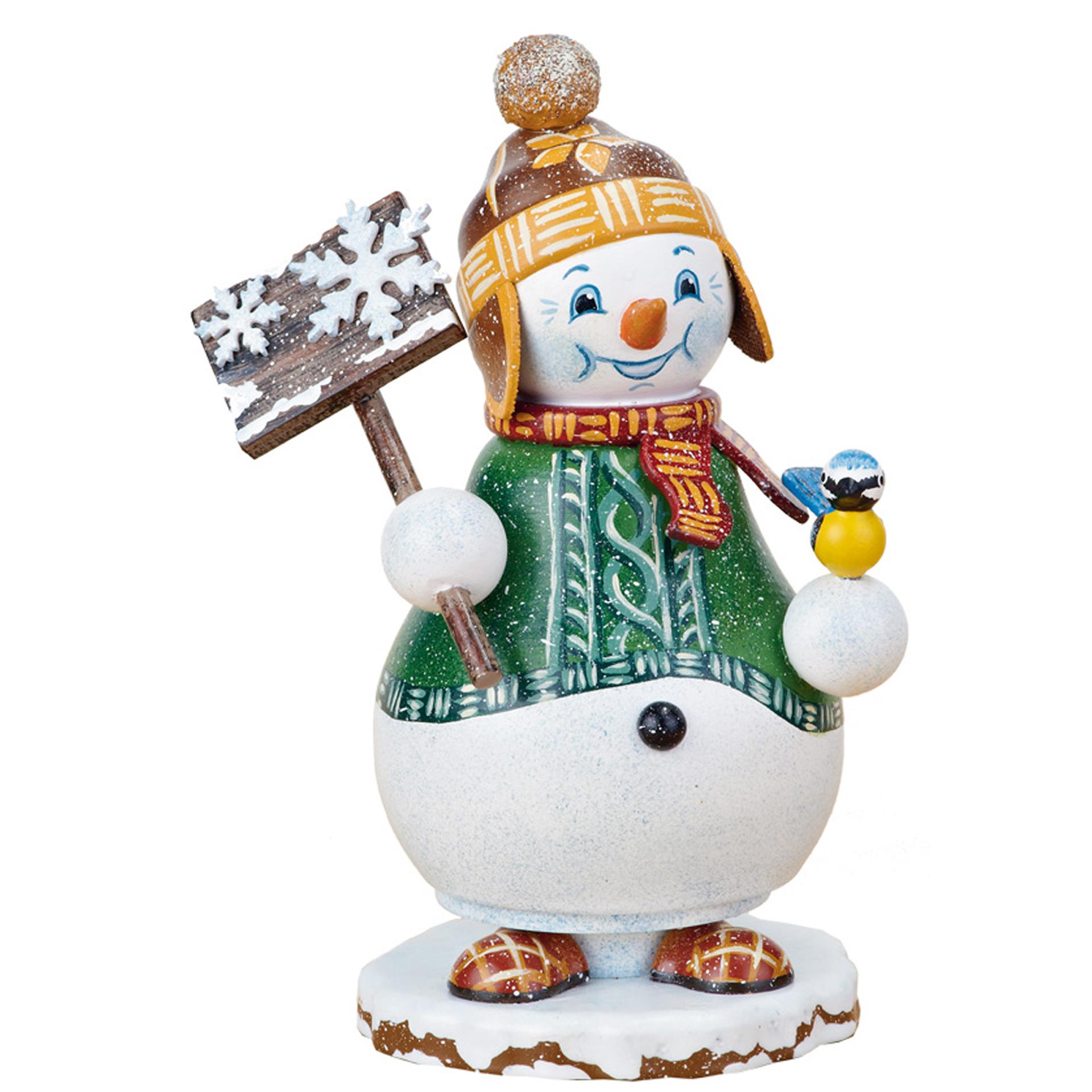 Räucherwichtel Schneemann Schneegestöber