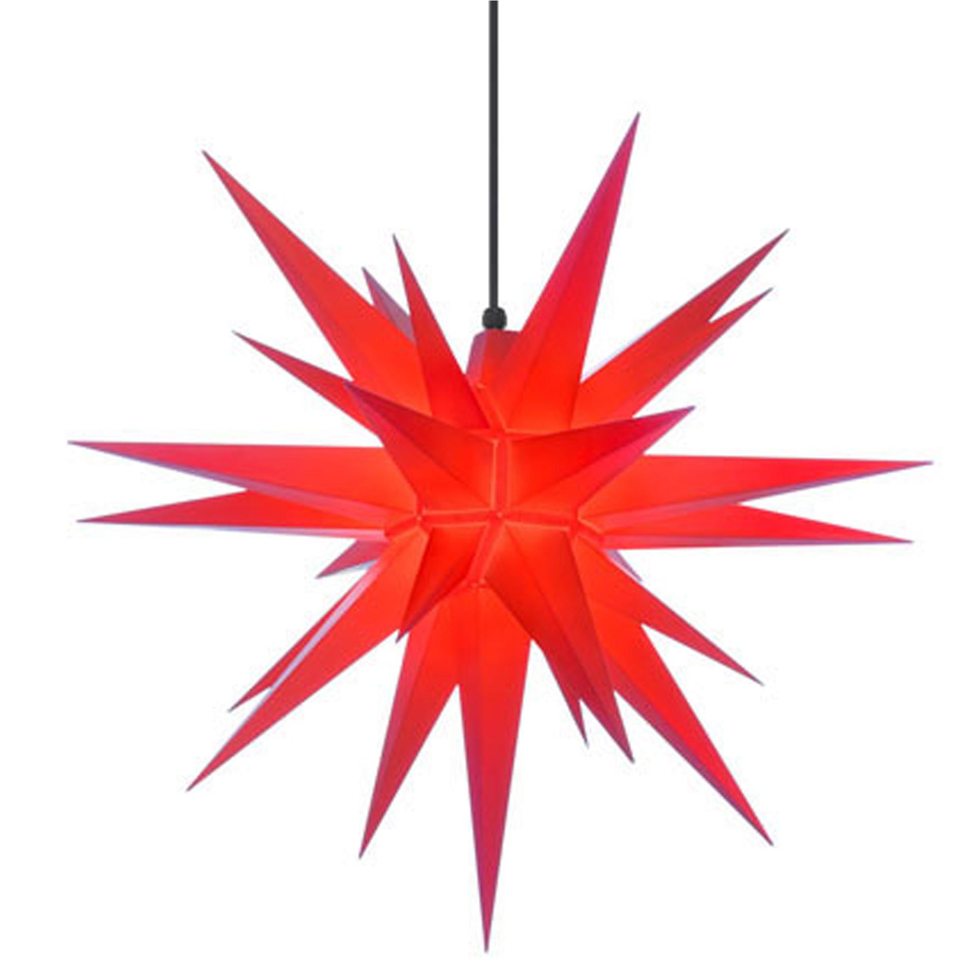 Herrnhuter Außenstern A7, rot