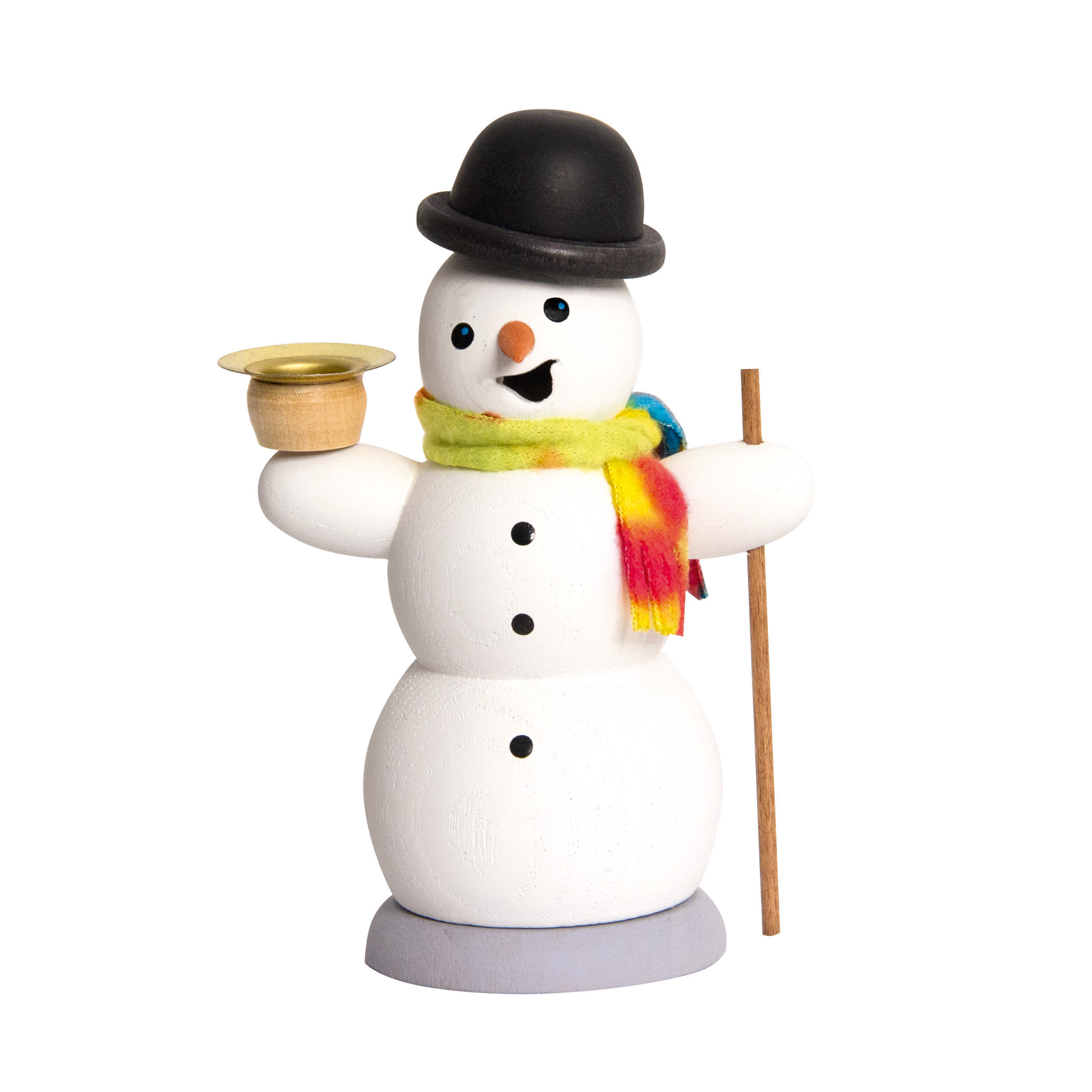 Schneemann mit Kerze