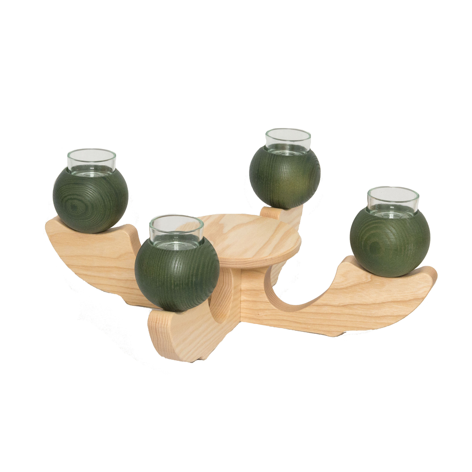 Tischleuchter 4-armig, grün