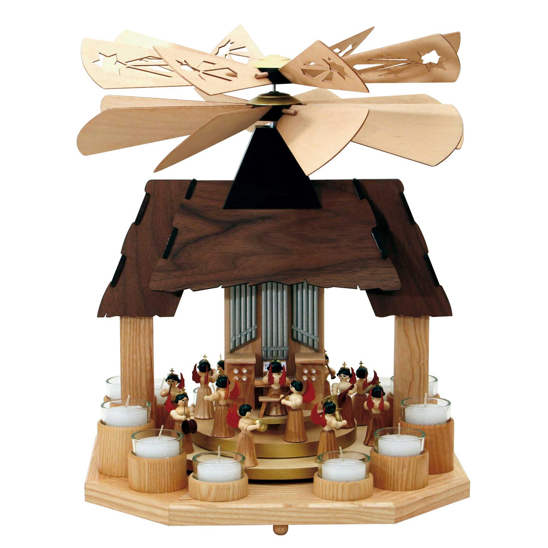 Doppelpyramide Haus mit Konzertengeln