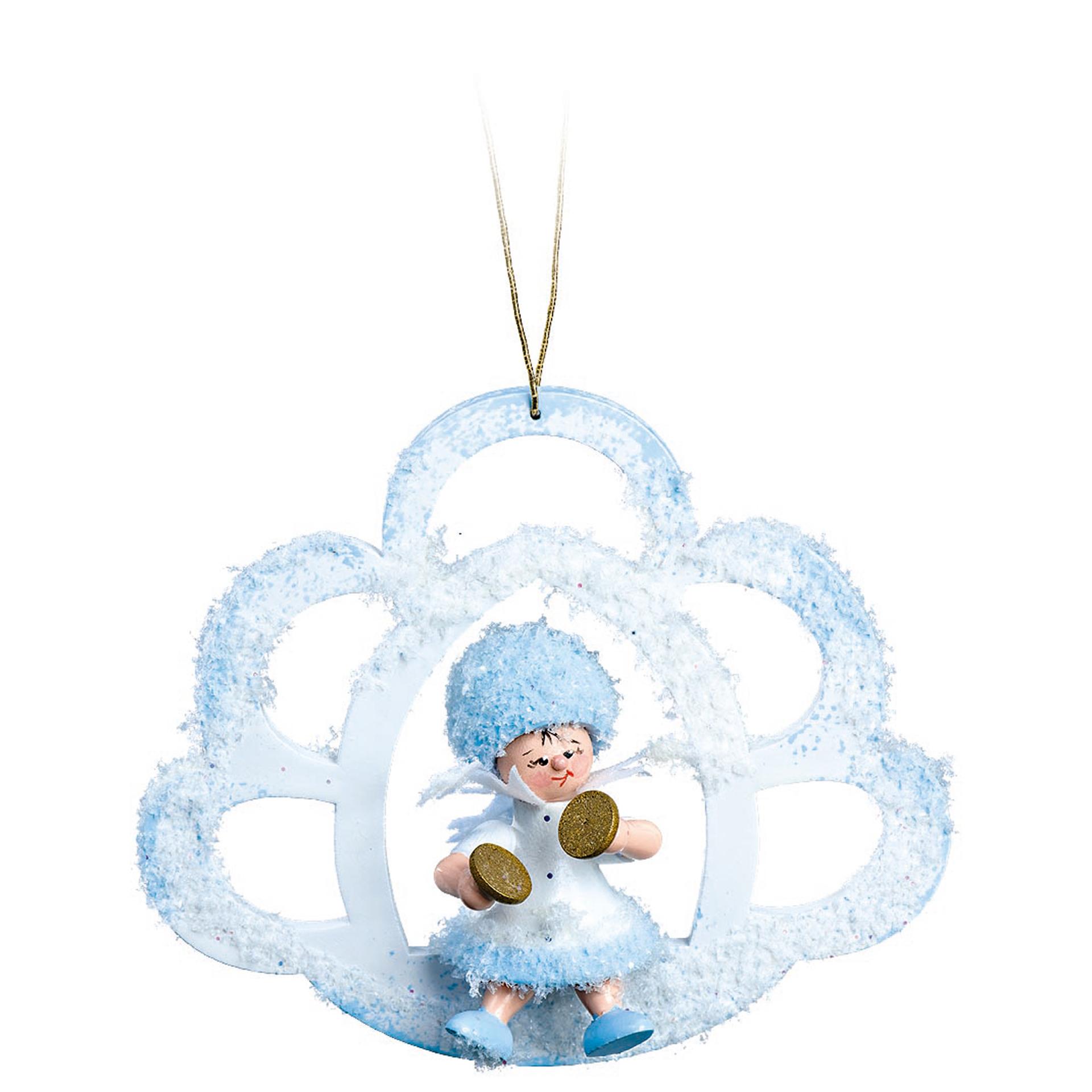 Baumschmuck Schneeflöckchen mit Becken in der Wolke
