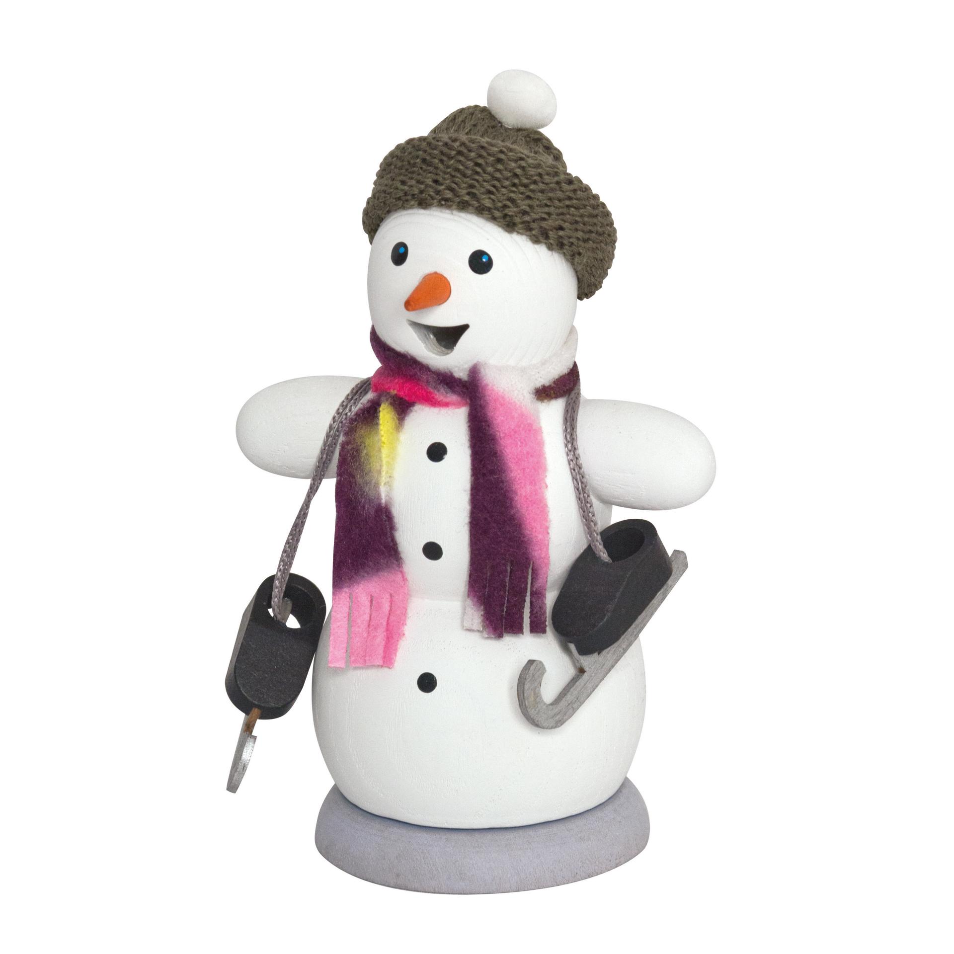Schneemann mit Schlittschuhen