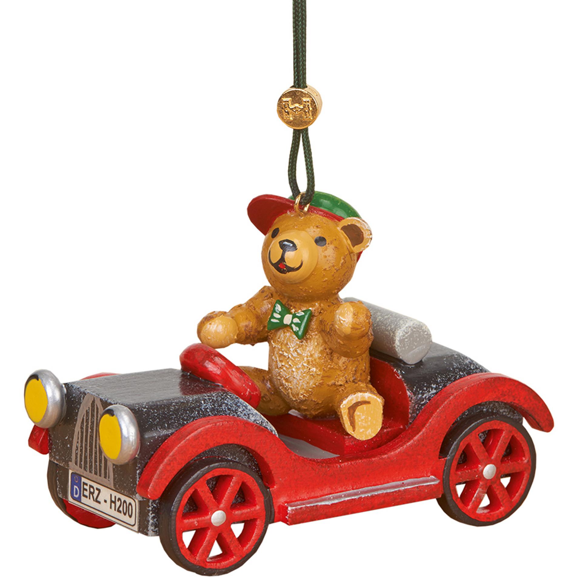 Baumschmuck Auto mit Teddy