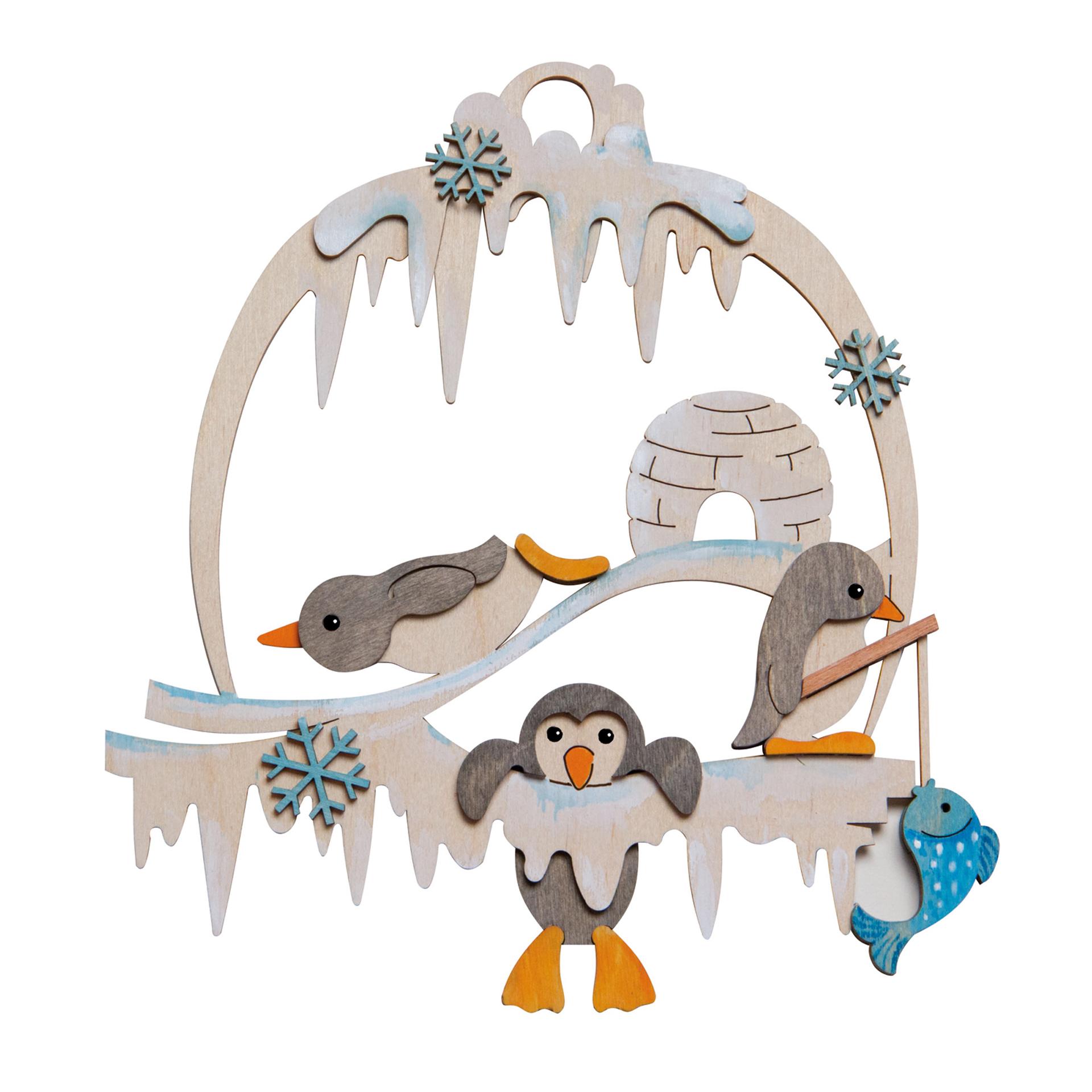 Bastelset Fensterbild Pinguin